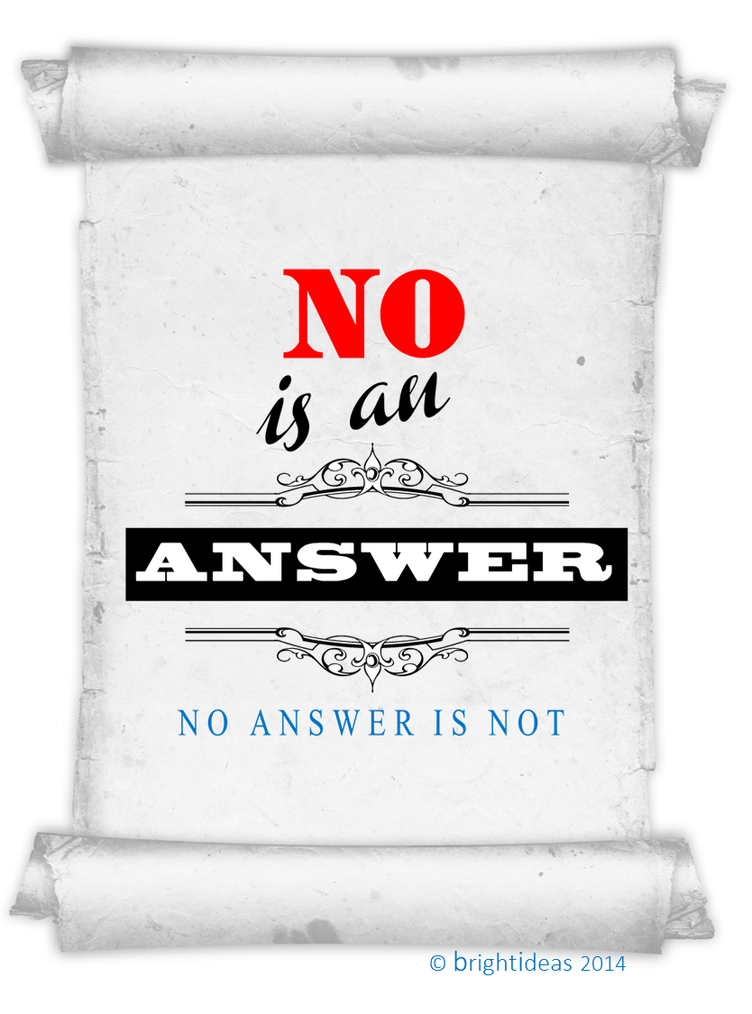 No answer is an answer